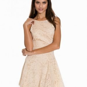 John Zack Flower Lace Skater Dress Skater Mekko Cream