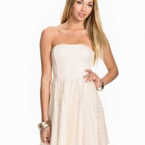 John Zack Lace Bandeau Dress Vit