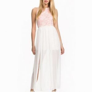 John Zack Lace & Chiffon Maxi Dress