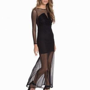John Zack Maxi Sheer Lace Dress