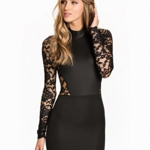 John Zack Turtleneck Lace Dress