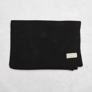 Journal Objects Ltd John Rib Scarf Black