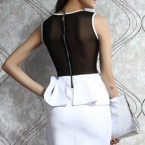 Jozlyn valkoinen peplum-mekko