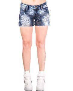 June Shorts Denim Blue