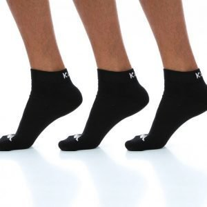 Kappa Ben 3-Pack Footies Puuvillasukat Musta