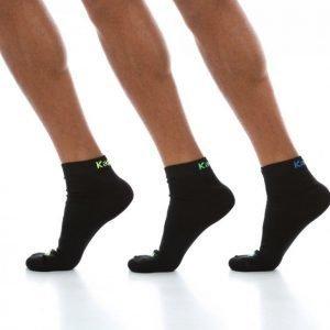Kappa Footies 3-Pk Socks Puuvillasukat Musta / Sininen