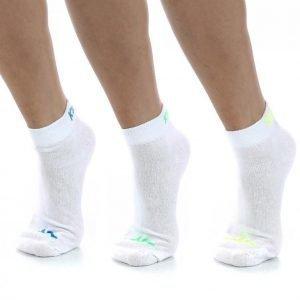 Kappa Footies 3-Pk Socks Puuvillasukat Vit / Blå / Grön / Gul