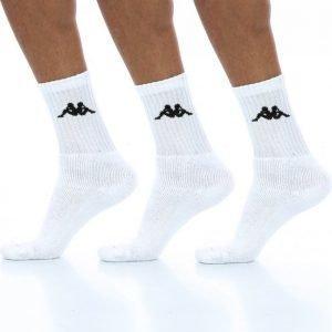Kappa Susper 3-Pack Socks Puuvillasukat Valkoinen