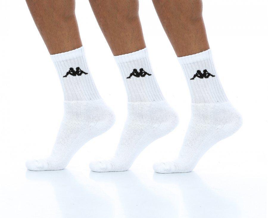 Kappa Susper 3-Pack Socks Puuvillasukat Valkoinen - Vaatekauppa24.fi af53d546a8