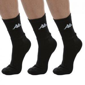 Kappa Tennis Trisper Socks 3pk Puuvillasukat Musta / Valkoinen