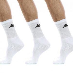 Kappa Tennis Trisper Socks 3pk Puuvillasukat Valkoinen / Musta