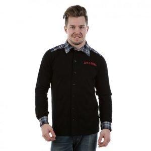 Kask Shirt 300 Pitkähihainen Kauluspaita Musta