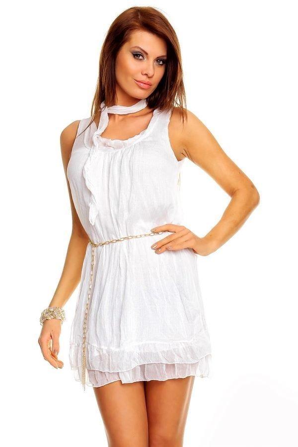 Kate Fashion valkoinen mekko - Vaatekauppa24.fi 891d550a12