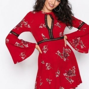 Kiss The Sky East Meets West Dress Loose Fit Mekko Red