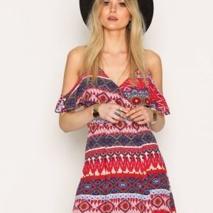 Kiss The Sky Mojito Dress Skater Mekko Red