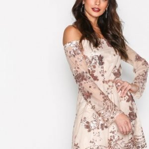 Kiss The Sky Twinkle Twinkle Dress Paljettimekko Rose Gold