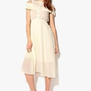 Kling Plait Two Ways Dress Luonnonvalkoinen 34 IT1