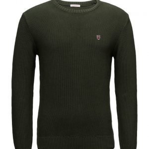 Knowledge Cotton Apparel Basic Knit pyöreäaukkoinen neule