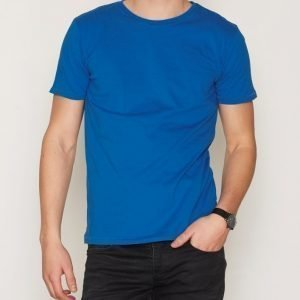 Knowledge Cotton Apparel Basic Regular Fit O-Neck Tee T-paita Sea