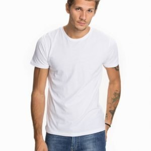 Knowledge Cotton Apparel Basic Regular Fit O-neck T-paita Bright White