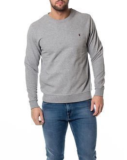 Knowledge Cotton Apparel Basic Sweat Light Grey Melange
