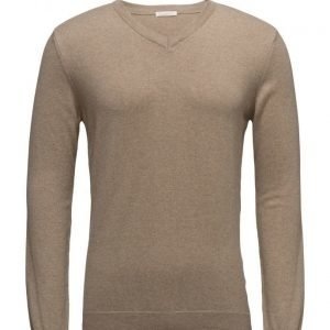 Knowledge Cotton Apparel Basic V-Neck Cashmere/Cotton Gots v-aukkoinen neule