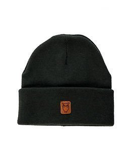 Knowledge Cotton Apparel Beanie Hat Dark Forrest Night