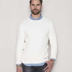 Knowledge Cotton Apparel Bobble Look Knit 1007 Star White
