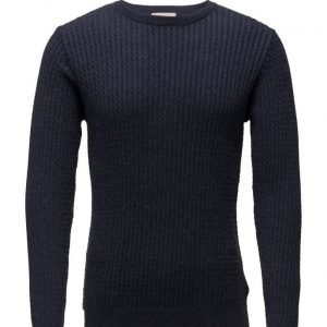 Knowledge Cotton Apparel Cotton/Cashmere Cable Knit Gots pyöreäaukkoinen neule