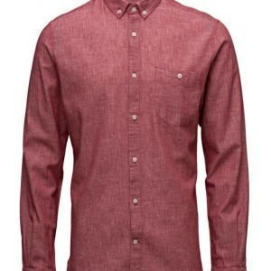 Knowledge Cotton Apparel Cotton/Linen Shirt- Gots