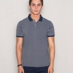 Knowledge Cotton Apparel Dot Print 1091 Peacoat