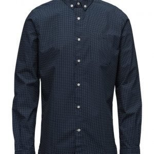 Knowledge Cotton Apparel Dot Printed Poplin Shirt Gots