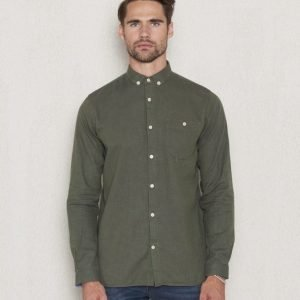 Knowledge Cotton Apparel Flanel Shirt 1176 Green