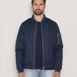Knowledge Cotton Apparel Funktional Bomber 1001 Navy