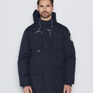 Knowledge Cotton Apparel Heavy Parka 1001 Navy