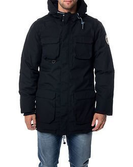 Knowledge Cotton Apparel Heavy Parka Jacket Total Eclipse