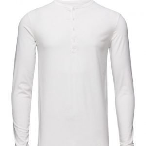 Knowledge Cotton Apparel Henley Gots pitkähihainen t-paita