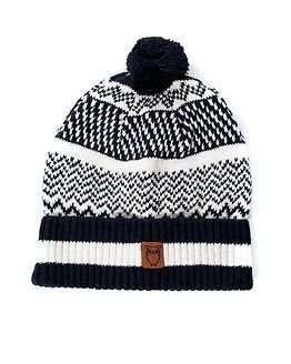 Knowledge Cotton Apparel Knit Hat Total Eclipse
