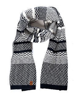 Knowledge Cotton Apparel Knit Scarf Total Eclipse