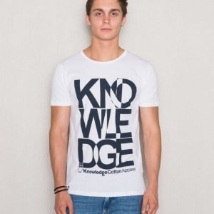 Knowledge Cotton Apparel Knowledge Print 1010 Bright White