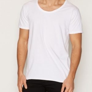 Knowledge Cotton Apparel Loose Basic Tee T-paita Bright White