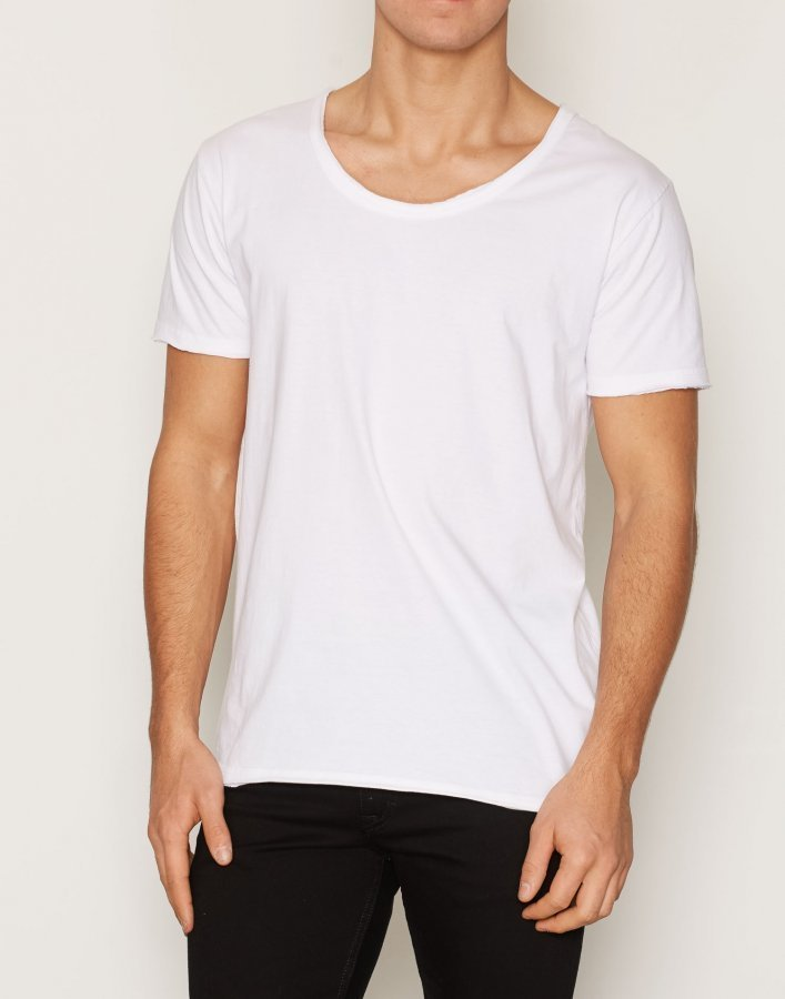 Knowledge Cotton Apparel Loose Basic Tee T-paita Bright White