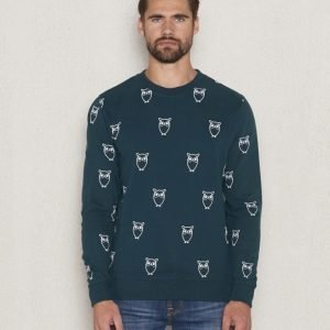 Knowledge Cotton Apparel Owl Sweat 1194 Green