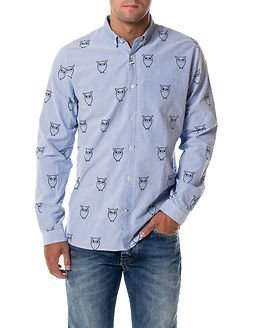 Knowledge Cotton Apparel Oxford Owl Print Limoges