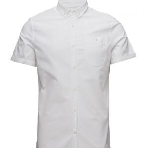 Knowledge Cotton Apparel Oxford Shirt Short Sleeve Gots lyhythihainen paita
