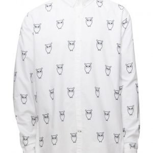 Knowledge Cotton Apparel Oxford W/Owl Print L/S Gots