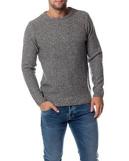 Knowledge Cotton Apparel Pearl Knit Grey Melange