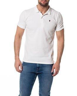 Knowledge Cotton Apparel Pique Polo Bright White