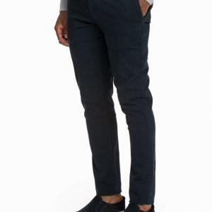 Knowledge Cotton Apparel Pistol Joe Stretch Chinos Chinot Total Eclipse