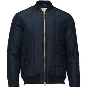 Knowledge Cotton Apparel Quilted Bomber Jacket Grs untuvatakki